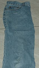 front panel of jeans