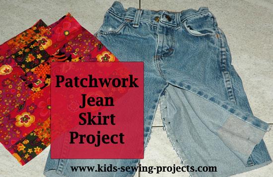 jean skirt material