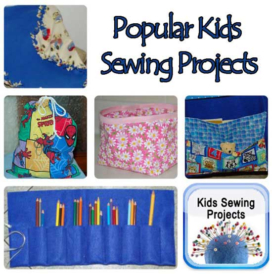 popular kids sewing projects