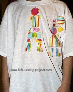 applique doll shirt