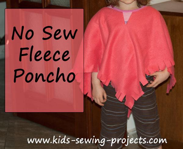 no sew poncho
