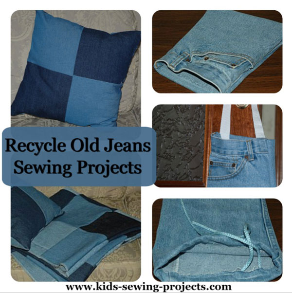 old jeans recycle projects