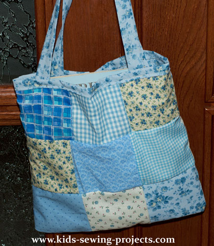 patchwork tote bag done