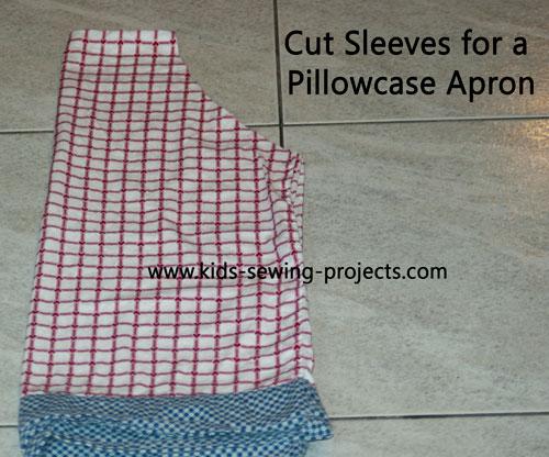 cut corner of pillowcase