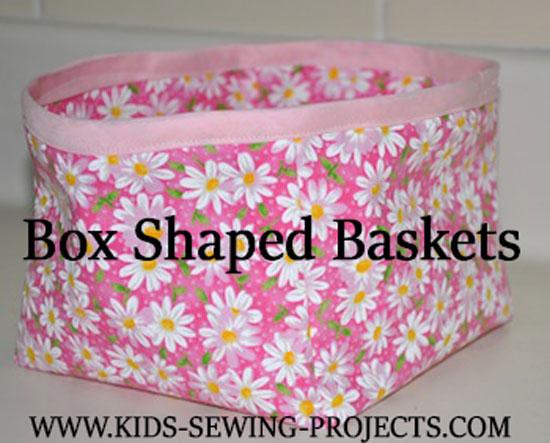 box with bias tape