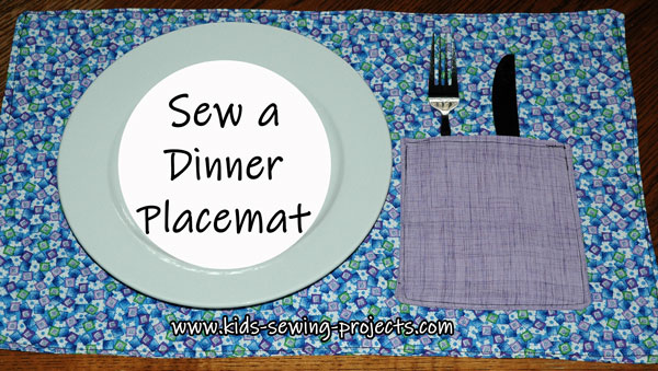 placemat with pocket