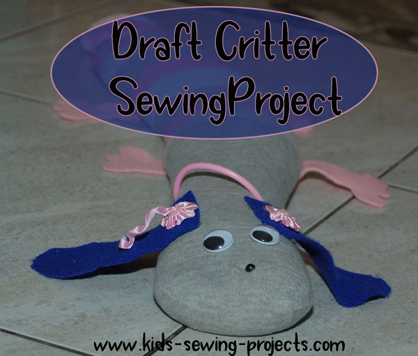draft critter kids sewing project