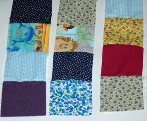 scrap rows for quilt
