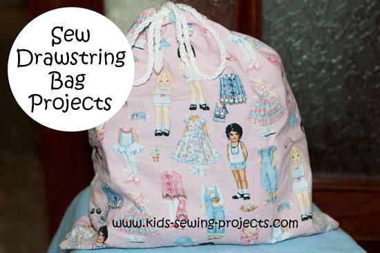 sew drawstring bags