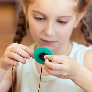 sewing flower button