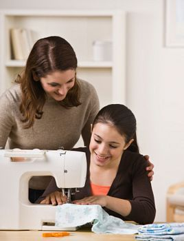 sew on machine picture
