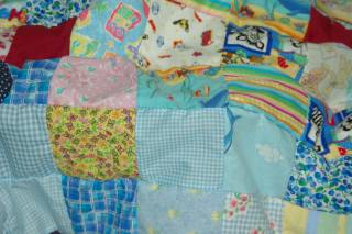 sewing scrap rows