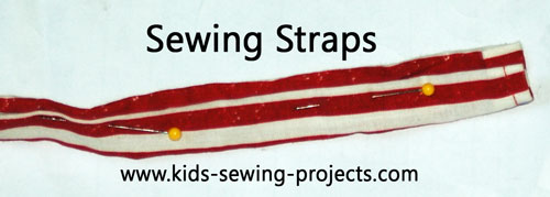 sewing straps out of fabric