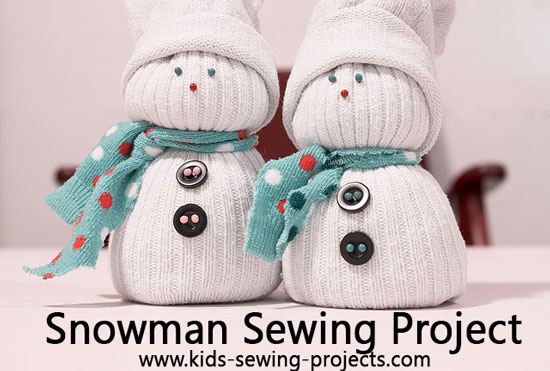 snowman sewing project