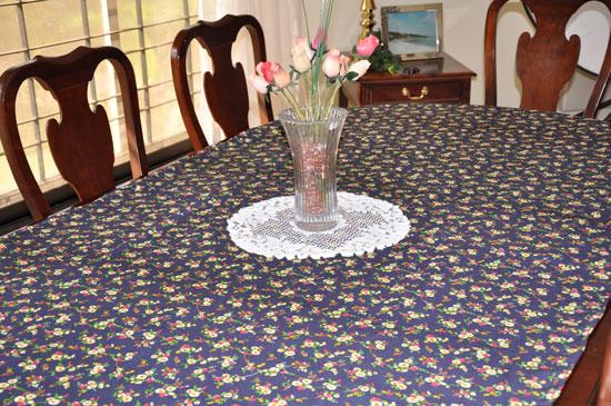 sewn tablecloth