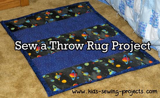 throw rug sewn