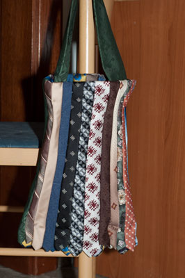 longer tie bag with points