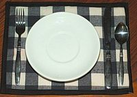 dinner placemat