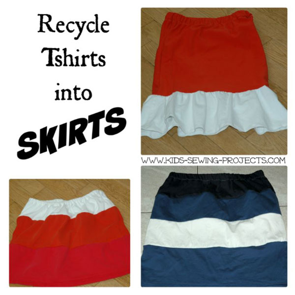 tshirt skirt projects