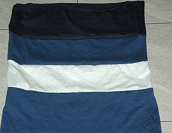 tshirt strips sewn