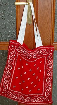 finished bandanna bag