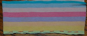 a straight hand stitch