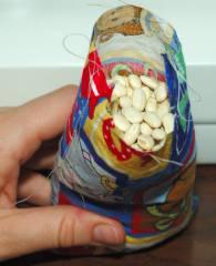 beans in a bean bag
