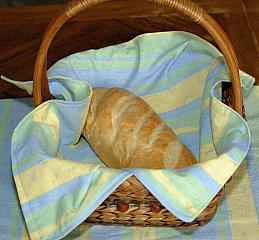 bread cloth in basket