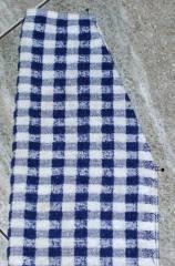 cut dish towel edges