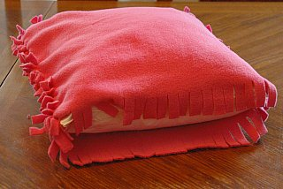 No Sew Fleece Pillow Sham: Fleece pillow ,