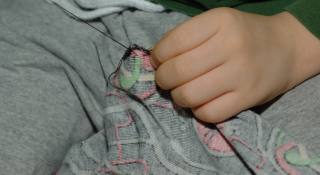 mending a hole in pants