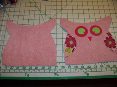 Placement of Owl Face & Wings