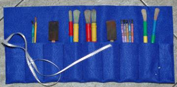 paintbrush case from felt organizer