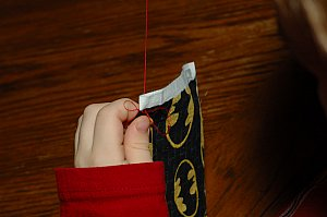 practice hand stitching
