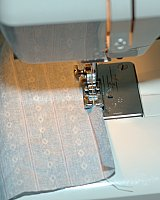 sewing edge hem on pillow back