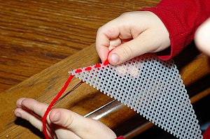 sewing plastic canvas