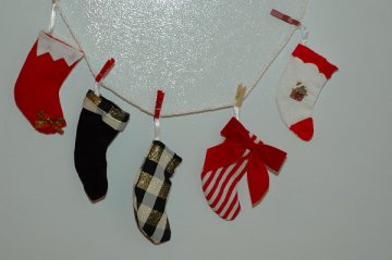 stocking decorated