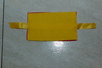 yellow piece of needle book