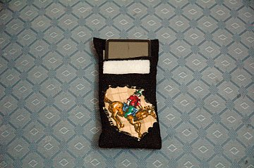 sewn ipod holder