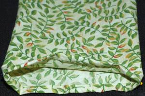 heating pad pillowcase stitching hem
