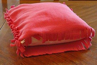 insert pillow in fleece