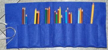 pencil case from felt organizer