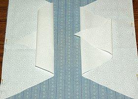 pin ties to top of pillow