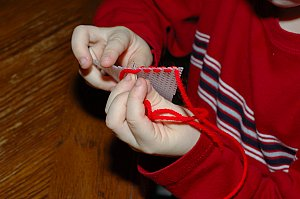 plastic canvas needle sewing