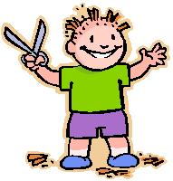 kid cutting own hair