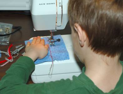 straight stitch on the sewing machine